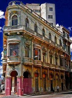 Street Corner in Havana, Cuba