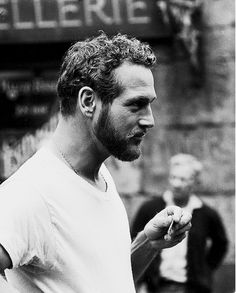 Paul Newman with a beard. For the love of beard. Classic Hollywood, Old Hollywood, Looks Black, Black And White, Gorgeous Men, Beautiful People, Hommes Sexy, Facial Hair, Famous Faces