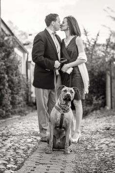 outdoor dc engagement session with pets