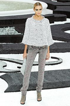 """chanel - love this """"effortlessly casual"""" silver look"""