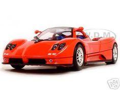 Pagani Zonda C12 Red 1/18 Diecast Model Car by Motormax   Car Intensity