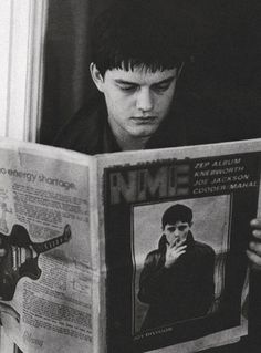 Sam Riley as Ian Kevin Curtis (1956 - 1980), lead singer of Joy Division - 'Control', 2007, directed by Anton Corbijn.