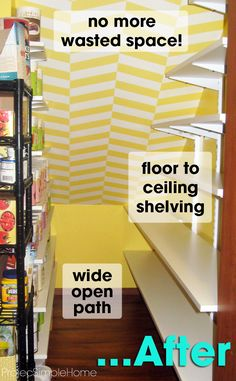 Increasing under the stair pantry storage space ~ Project Simple Home