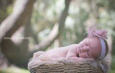outdoor newborn shoot