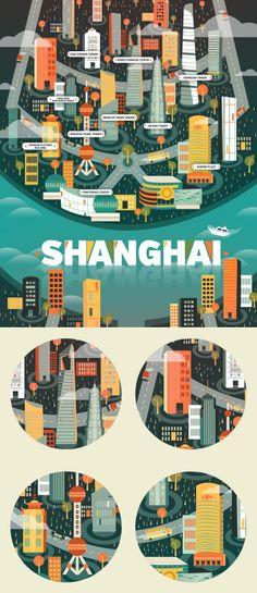 Ilustraciones Cosmópolis - Shanghai