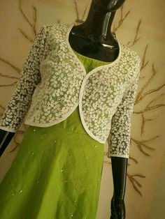 Different types of jacket style kurtis designs Kurta Designs, Blouse Designs, Jacket Style Kurti, Kurti With Jacket, Abaya Style, Kurti Patterns, Dress Patterns, Sewing Patterns, Salwar Kameez