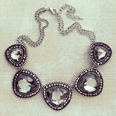 Chunky statement necklace.