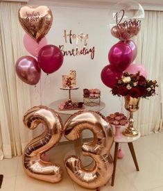 Birthday Goals, 18th Birthday Party, Birthday Party Themes, Simple Birthday Decorations, Balloon Decorations Party, Birthday Girl Pictures, Birthday Balloons, Birthdays, Ideas Para Fiestas