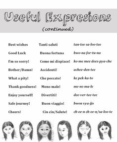 Useful expressions [2] in Italian from http://nativeitalian.tumblr.com