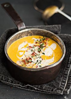 Kurpitsakeitto | Koti & Keittiö Soup Recipes, Recipies, Cooking Recipes, Healthy Recipes, Healthy Food, Finnish Recipes, Risotto, Side Dishes, Good Food