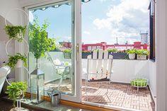 sun-bathed terrace