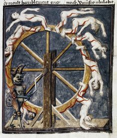 Demons From The Livre de la vigne nostre seigneur, 1450-1470