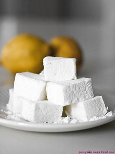 Lemon Sherbet Marshmallows 03 by penguin says feed me, via Flickr