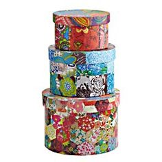 Floral Patchwork Nesting Boxes  Clearance $11.18