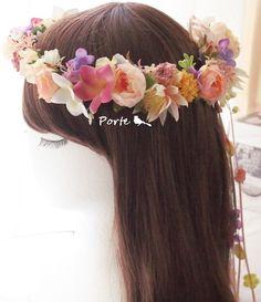 淡いカジュアルな花冠  Wedding Flower・ぽると のブログ