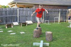 DIY American Ninja Warrior Backyard Obstacle Course - Frugal Fun ...