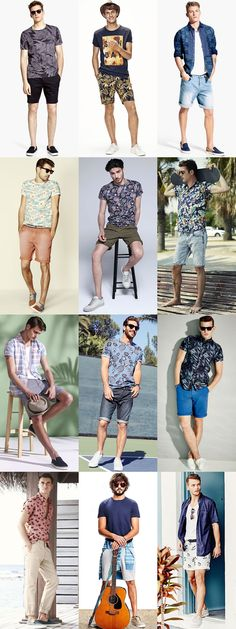 Fashion Mens Summer Style For 2019 Summer Holiday Outfits, Summer Outfits Men, Short Outfits, Casual Outfits, Men Casual, Fashion Outfits, Holiday Shoes, Fashion Clothes, Holiday Style