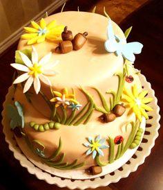 Kitchen Creativity Toadstool Nature Cake Olivia 1st birthday