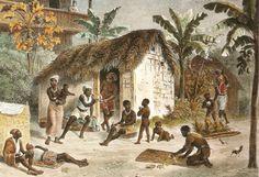 Senzala or slave quarters in Brazil