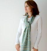 Anokhi USA: Lichen Mix cotton scarf