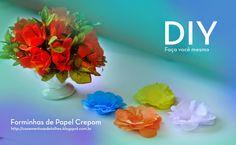 Blog Casamentos & Detalhes: DIY. Faça você mesmo - Forminhas de Papel Crepom. Acesse ➡️ www.casamentosedetalhes.com