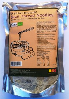 Bean Thread Harusame Mung Bean Noodle Certified Organic (135g) More