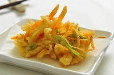 Receita de Tempura de legumes crocante