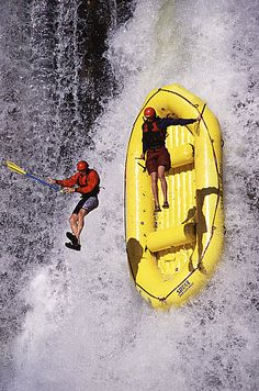 Go rafting, they said. River is calm, they said. They forgot about the WATERFALL!!!! #kevco