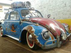 VW 1963 ao melhor estilo Rat Look, mais conhecida como ratoeirinha.