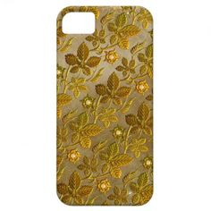 Gold Leaf Floral Pattern on Gold iPhone5