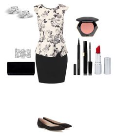 """Hard day at work"" by nicole-reynoso ❤ liked on Polyvore featuring Jane Norman, Chloé, HoneyBee Gardens, Kevyn Aucoin, H&M, Bling Jewelry and Glitzy Rocks"
