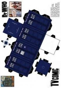 TARDIS paper model - if someone I loved knew I loved doctor who Doctor Who Birthday, Doctor Who Party, Dr Who, Paper Toys, Paper Crafts, 3d Paper, Doll Crafts, Blue Box, Paper Models
