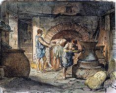 Roman Grain Mill And Oven Photograph