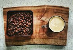 #coffee #home #natural #cuttingboard #morning #wood #kitchen #handmade #morningcoffee #homegoods #gift