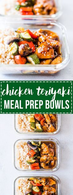 Teriyaki Chicken and Broccoli Meal Prep | Asian | Chinese Vegetables | Homemade Teriyaki Sauce | Adult Lunch Box Ideas | Easy Meal Prep for the week | Containers | Fast Easy Dinner Ideas