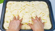Mischen Sie Wasser mit Mehl, Sie werden vom Ergebnis begeistert sein! brot backen, Focaccia - YouTube Bread Dipping Oil, Bread Recipes, Cooking Recipes, Bread Bun, How To Make Bread, Bread Baking, Pasta Dishes, Good Food, Brunch