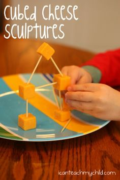 Cubed Cheese Sculptures -  Pinned by @PediaStaff – Please Visit ht.ly/63sNt for all our pediatric therapy pins