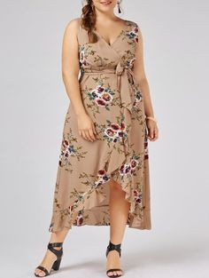 GET $50 NOW   Join Zaful: Get YOUR $50 NOW!http://m.zaful.com/plus-size-tiny-floral-overlap-flounced-flowy-beach-dress-p_290491.html?seid=3430795zf290491