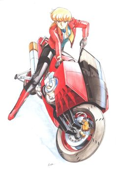 "aanniimmee: - By Kenichi Sonoda for ""Bubblegum Crisis,"" as featured in the art book ""Garden Party"" (1992)"