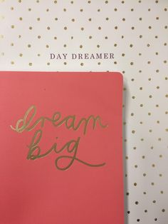 Hopes for the new year; Daydreamer, dream big, stationery, notebooks