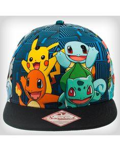 Pokemon Group Sublimated Snapback Hat Pokemon Hat 7b22d337ef64