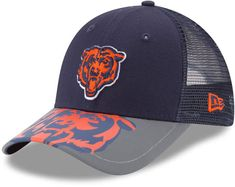 03aa6b7d0 Youth New Era Chicago Bears 9FORTY Mega Flect Snapback Cap