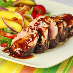 "Rum and Spice Glazed Pork Tenderloin The inspiration for this recipe came from one of the guys at work whose version of this recipe he had made several times and had become a favorite pork dish. I can easily see why. He describes it as, ""Really easy and incredibly delicious."" I have to agree with …"