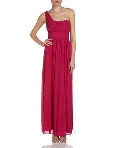 One-Shoulder Gown, Pink by Laundry by Shelli Segal at Last Call by Neiman Marcus.