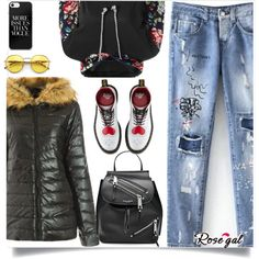 Rosegal   24 by mell-2405 on Polyvore featuring Dr. Martens, Marc Jacobs and Wildfox