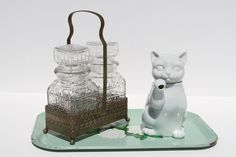VINTAGE Takahashi Fine Porcelain Lucky Cat by ElectricMarigold, $13.00
