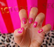 Pink CC Nails :)  so nice and classy
