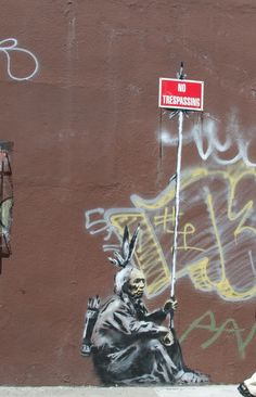 "Banksy street wall ""graffiti."" What a poignant and beautiful image. This is real #art. -P.S."