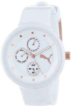 PUMA Women's PU910412001 Slick Multifunction White Watch