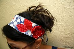 Scrappy Happy Fabric Headband Tutorial - Rae Gun Ramblings perfect for the Fourth of July